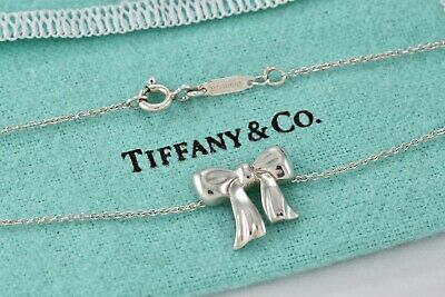 9acd003fc Tiffany & Co. Sterling Silver Bow Ribbon Charm Pendant 16.5