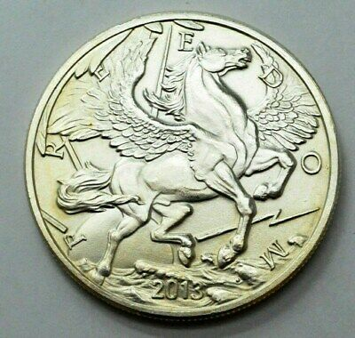 2013 1 Troy Oz 999 Fine Silver Round Pegasus Freedom Modern Ancients Coin!