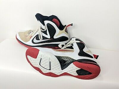 brand new 50f35 1b7da Nike Lebron 9 Scarface Mens US 13 White Black Red High Top Shoes 469764-100