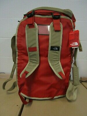 The North Face Basecamp Duffel Packable Travel Suitcase Backpack Bag Red Gold