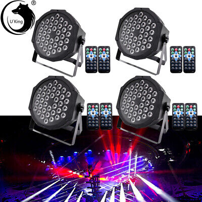 RGB 4PCS U`King 80W 36LED Par Stage Lighting DMX Remote Control Disco DJ Lights