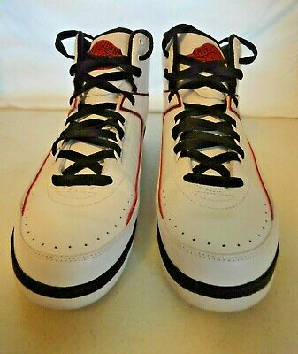 new concept f5433 a4607 Nike Air Jordan 2 Size 10 Retro QF WHITE BLACK FIRE RED WOLF GREY 395709-
