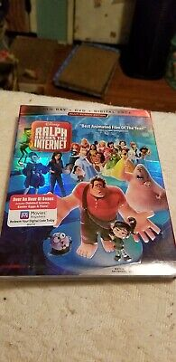 Ralph Breaks the Internet (Blu-ray + DVD + Digital; 2018) NEW with Slipcover