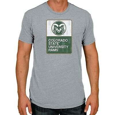 newest f143e 61f6f COLORADO STATE RAMS - NCAA Men s Short Sleeve Triblend T-Shirt - GRAY -  Medium