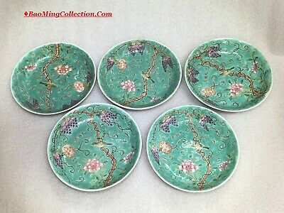 Chinese Mixed Lot of Famille Rose Dayazhai Porcelain Bowls Plates Spoons
