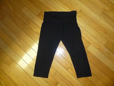 Justice Youth   Girls Leggings Capri Lentgh  Adorable Size 10 Black