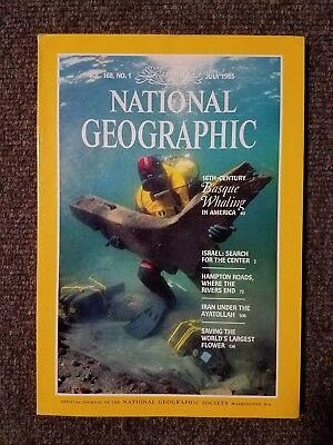 National Geographic Magazine July 1985 Israel, Iran, Largest Flowers