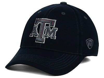 finest selection 6c61e 6154d Texas A m Aggies - Ncaa Top Of The World Foiled Black Flex Fitted Hat Osfm