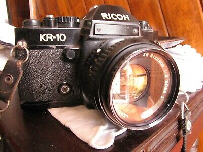 RICOH KR-10 Camera Body with  XR RIKENON f2/50mm Prime Lens and Strap