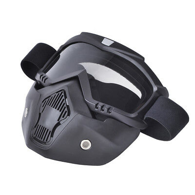 Motorcycle helmet face mask dust mask with detachable Goggles Mouth Filter