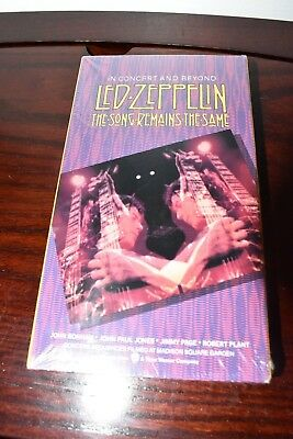 NEW LED ZEPPELIN (VHS) The Song Remains the Same Factory Sealed!