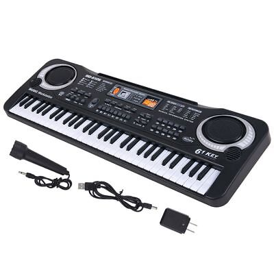 61 Key Digital Music Electronic Keyboard Kids Electric Piano Organ w/ Microphone