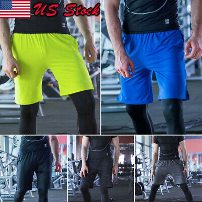 Mens Dri-Fit Mesh Shorts Fitness Workout Gym Basketball Jogger Shorts Size S-5X