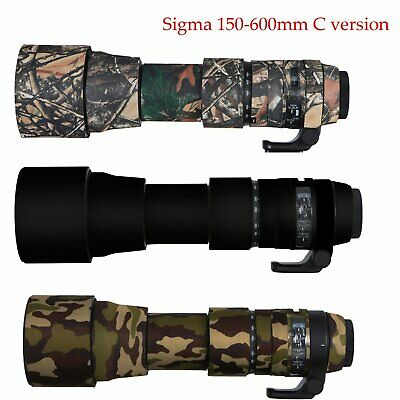 Sigma 150-600mm C version Lens Protective camouflage coat cover Woodland / black