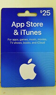 App Store & iTunes $25 Gift Card New Unused Free Shipping