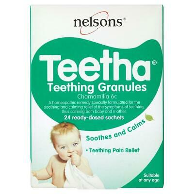 Nelsons Baby Teetha Teething Granules 24 Ready-Dosed Sachets- Homeopathic Remedy