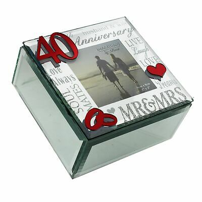Juliana Mirror 3D Words 40th Anniversary Trinket Box - WG61640