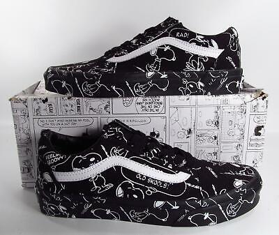 354a332acd6a7c Vans x Peanuts Snoopy Old Skool Sneakers Rare Deadstock Black MENS 6  DAMAGED BOX