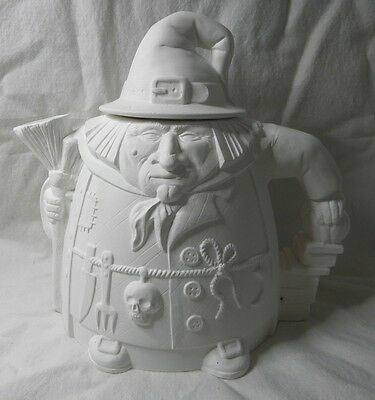 Ceramic Bisque Ready to Paint-Witch Teapot Nadine-your Mother in Law perhaps?