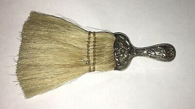 "Antique Ornate Repousse Sterling Silver Handle  6"" Utility Brush"