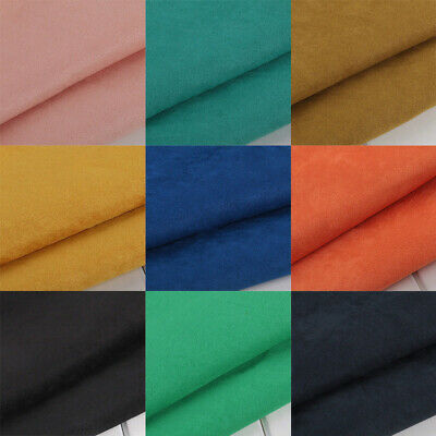 Upholstery Fabric Faux Chair Plain Dress Craft Multi-color Suedette Material