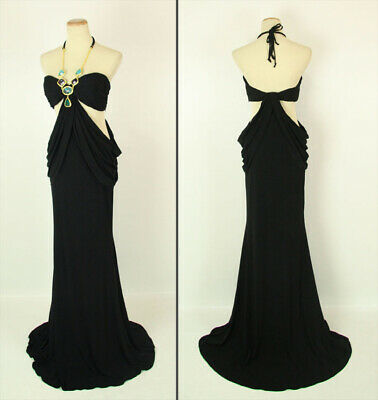 3cd474c0c9e40 NEW $400 Halter Long Evening Prom Formal Size 6 Gown Black Beyond By Jovani
