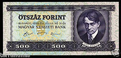 HUNGARY 500 Forint 1990 P#175a paper banknote Ungarn UNC