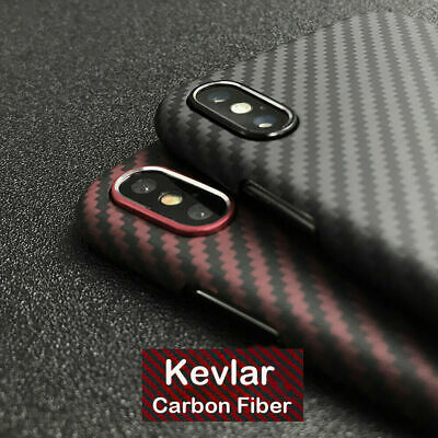 Carbon Fiber Iphone Case >> 100 Real Carbon Fiber Phone Case For Iphone X Xr Xs Max Case Cover Black Red