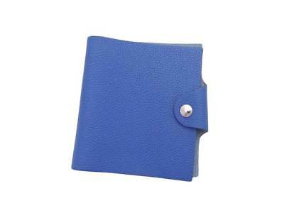 Auth HERMES Square O (2011) Mini Ulysse Note Cover Blue Togo Leather - e39272