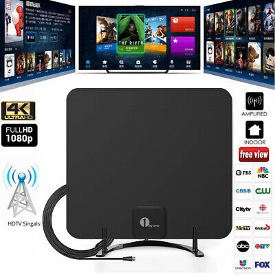 1byone TV Aerial 0.5 mm Paper Thin Amplified Indoor TV Antenna Digital Indoor HD