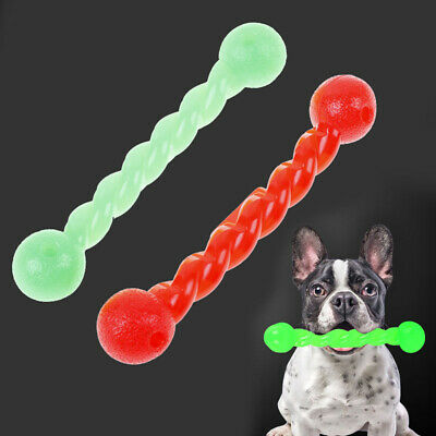 Plastic Rubber Pet Dog Toy Bite Bone Puppy Play For Teeth Training ChewSE