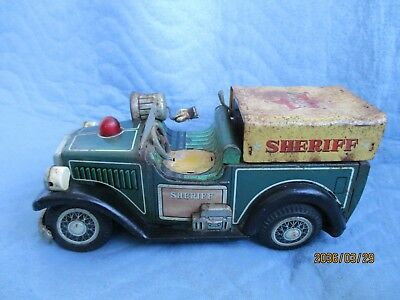 SHERIFF Jeep MADE IN Japan 50er Jahre SW 0085 Defekt