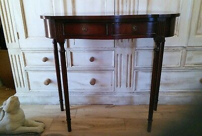 Reprodux Bevan Funnell Mahogany Serpentine Classical 1 Drawer Hall / Side Table