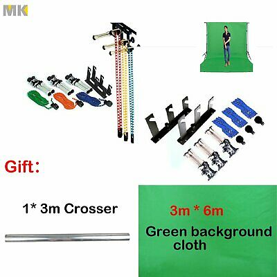 3-Roller Wall Mount Manual Photography Background Support System With 3*6m Cloth