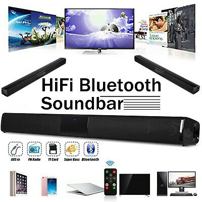 50W Output Stereo Bluetooth Wireless Sound Bar Home TV Speaker for PC/Laptop/TV