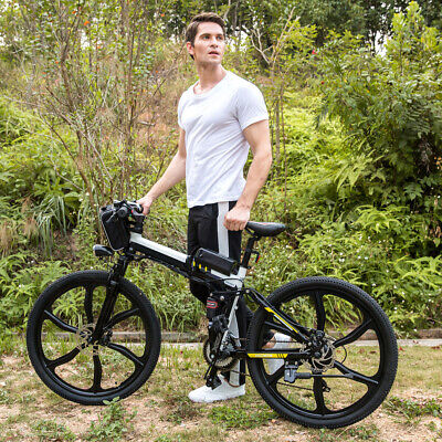 26'' 21 Speeds Electric MTB Mountain Bicycle Aluminum E-bike 36V Lithium 250W