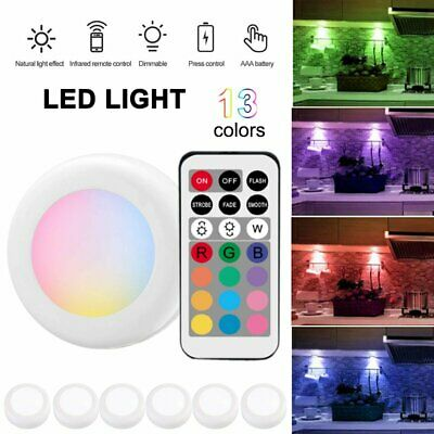 1/3/6 pcs LED Night Light Infrared Wireless Wall Lamp Battery Remote Control AU
