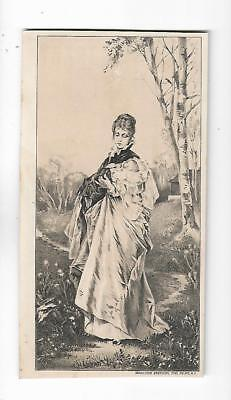 Old Quack Medicine Trade Card Pond's Extract Woman Child Wiley Bethel Hill Maine