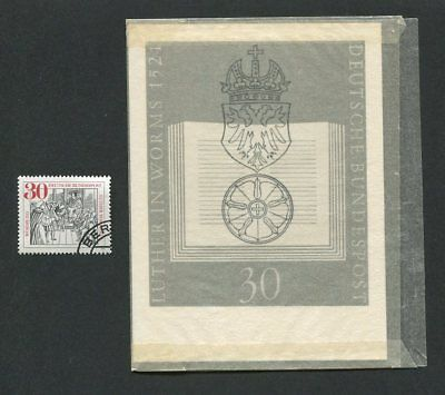 Brd Foto-Essay 669 Worms Reichstag 1971 Martin Luther Photo-Essay Proof Rare!!