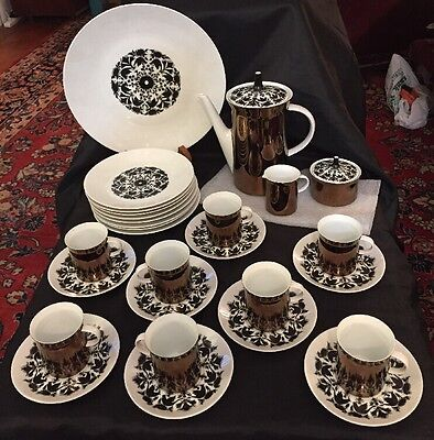 Rosenthal HILTON 30 pc Coffee Svc for 8 Cups Saucers Plates Coffee Pot Platter
