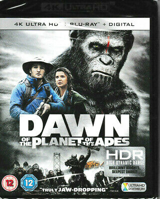 Dawn of the Planet of the Apes -4K ULTRA HD + Blu Ray + Digital - Brand New