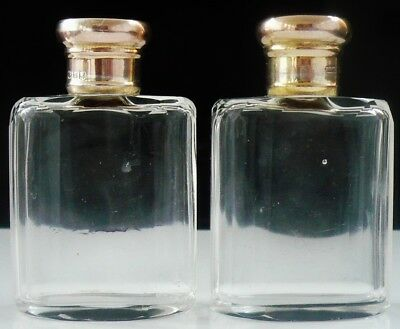 Silver Topped Cologne Scent Perfume Bottles, London 1916, George Henry James