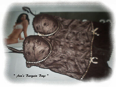 Target * Womens-Size 12C-Floral Lace-Under Wire-Corset-Bustier-So Sexy!!!-Brown