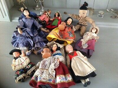 Joblot Collection Antique Vintage Small Dolls