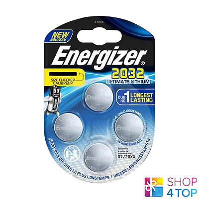 4 Energizer Cr2032 Ultimate Lithium Batteries 3V Coin Cell Dl2032 Exp 2025 New