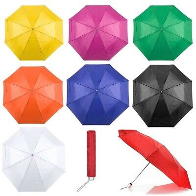 "Mini Folding Compact Pocket Umbrella 41"" Telescopic Wedding Lightweight Brolly"