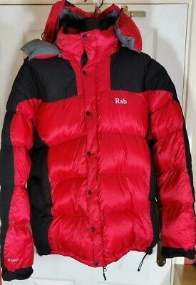 0bb68b10af RAB MENS SIZE xlarge Summit Down Jacket Red black puffa hood coat