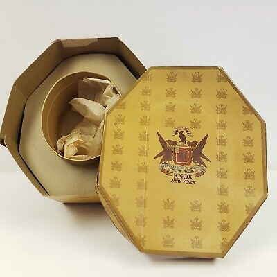Vintage KNOX New York  Cardboard Hat Box With Inserts