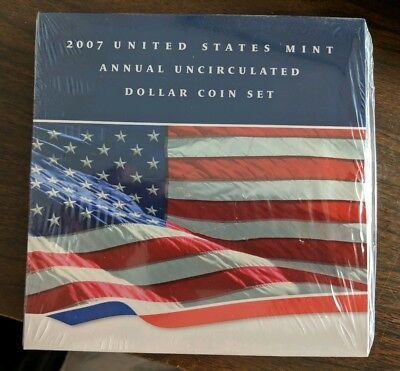 2007 US Mint annual uncirculated Dollar coin set ORIGINAL MINT SEALED FREE SHIP