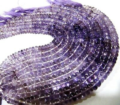 Natural Amethyst Rondelle Plain Smooth Beads 9-10mm pink Amethyst Beads 8 inches